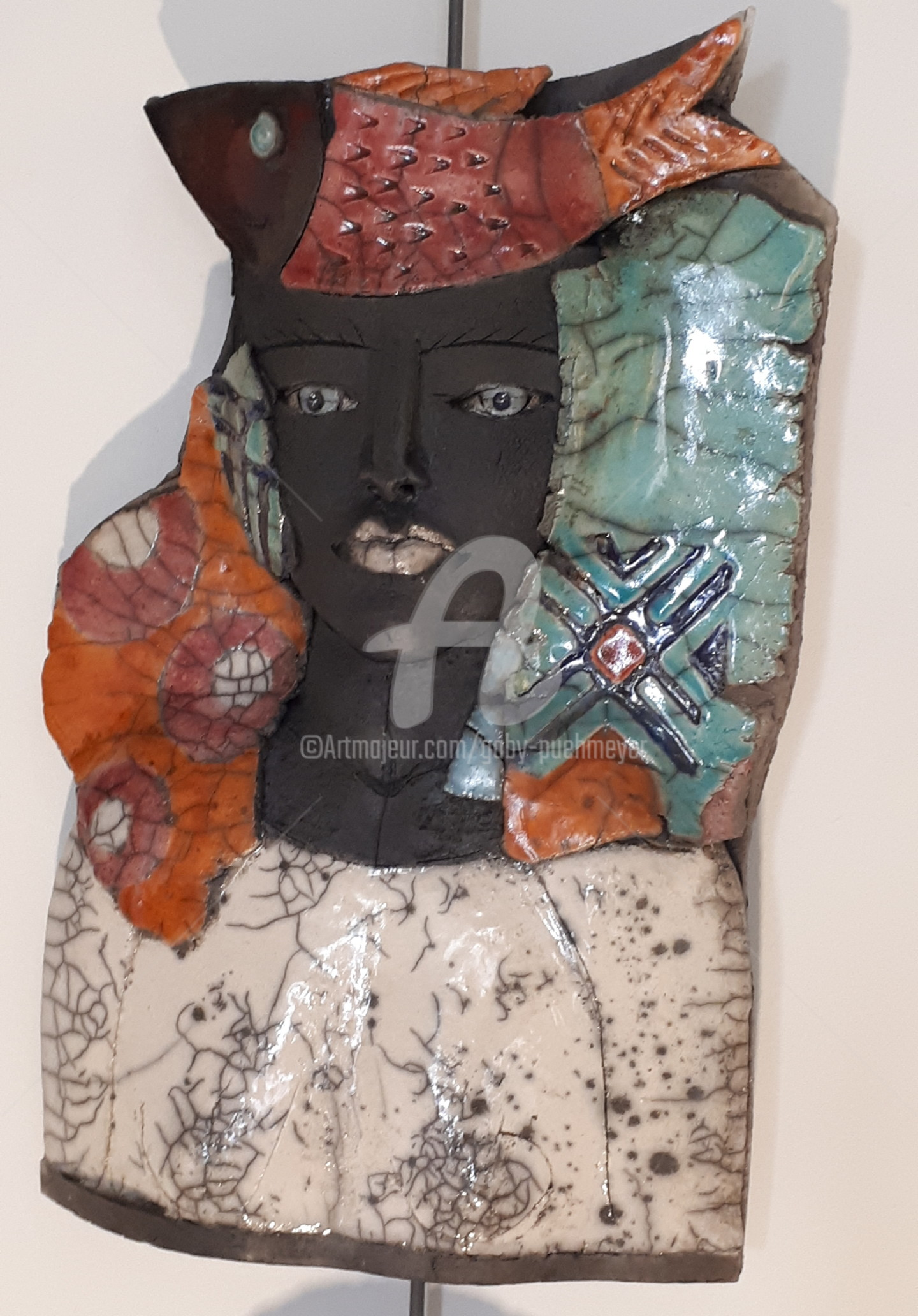 Gaby Pühmeyer - Travel Companion - Red Fish on Head